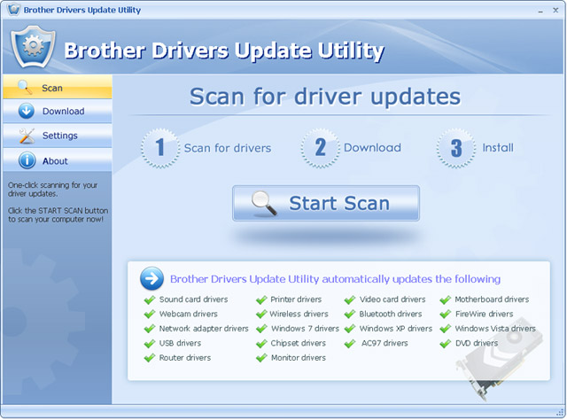 Screenshot for Brother Drivers Update Utility For Windows 7 12.2