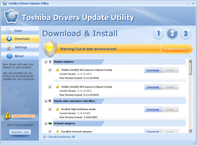 Toshiba Satellite C855d S5320 Drivers Download